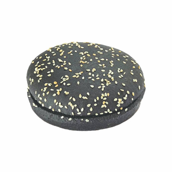 Ary Black Bun Topped With Sesame