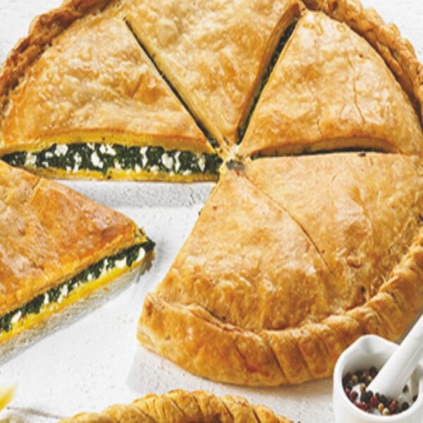 Ary Traditional Pie Kourou Circle Shape w. Spinach & Feta Cheese