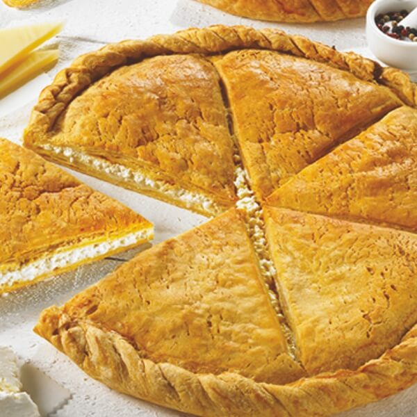 Ary Traditional Pie Kourou Circle Shape w. Yellow Cheese from Amfiloxia