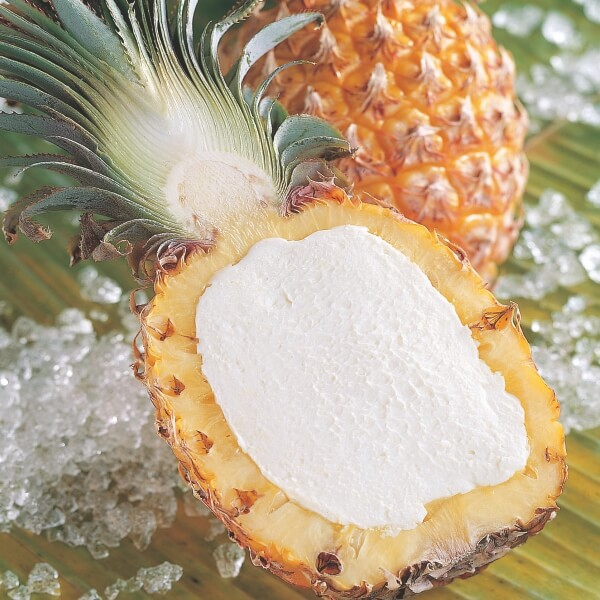 Pineapple Stuffed w. Pineapple Sorbet